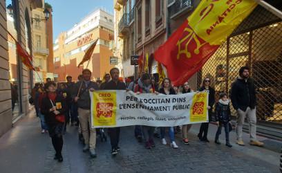 Manifestacion a Tolosa ende sauvar l'ensenhament de l'occitan